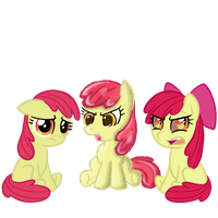 The 3 Versions of Applebloom by Scramjet747
