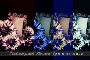 Texture pack 'Flowers', 1200 x 800 pixel by Silviabilia
