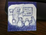 Post-it Monster #4: Board Meeting by TacoClone