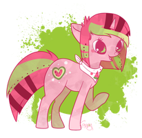 melon pop polly po by cappydarn