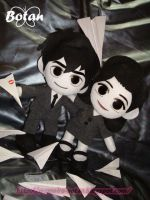 chibi George and Meg plushie version by Momoiro-Botan