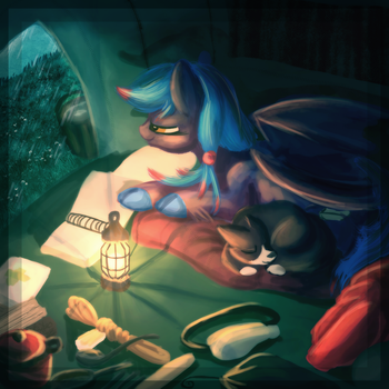 Box Commission - Tranquil Rains by Amura-Of-Jupiter