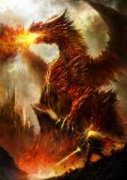 Hiryu The Fire Dragon by Superhasby