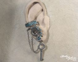 Frozen steampunk ear cuff by bodaszilvia