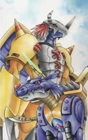 Wargreymon and Metalgarurumon by LEO-GENDARY