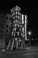 Dancing Haus at Night by TheMetronomad