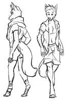 Doggy men doodles by Possly
