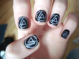 Linkin Park Nails by x-FallenLeaves-x