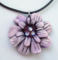 Purple Daisy Pendant by MandarinMoon