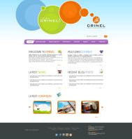 Crinel Website Design Op1 by karmooz