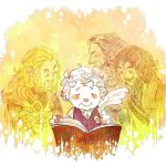 Bilbo's memory with Durin family by harmonia3784
