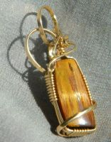 Real tiger's eye by DPBJewelry