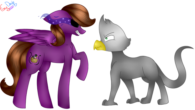 Melody Cooks VS Arlo [Art Trade] by FoxyDash44