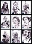 Star Wars Galaxy 6 sketch card by roberthendrickson