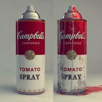 Campbell's Tomato Spray by Anarchyl