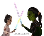 Pridesabers by TheElvenJedi
