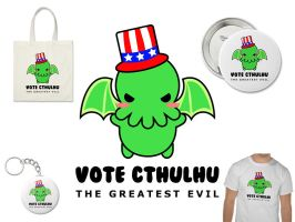 vote cthulhu for president by hellohappycrafts