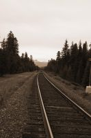 Railroad to Banff by Reborn-Memories