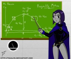Raven the Physics Teacher by Tsaalyo
