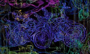 gaggle of bikes inverted by kylehaase