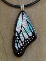 Med. Pastel Glass Wing by FusedElegance