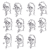Eleven Worker Faces by DimeSpin