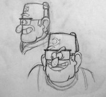Grunkle Stan Sketches #1 by KittyCatAddict