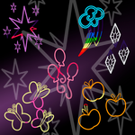 Cutie Mark Photoshop Brushes by LiatLNS