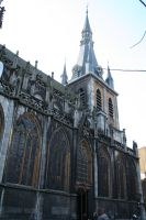 view in Liege to cathedral by ingeline-art