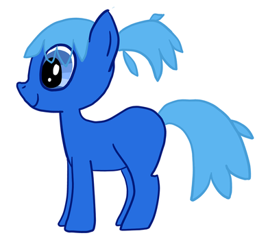 Blue Pony by ghanimaaa