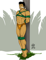 Tarzan Bound and Gagged by JungleCaptor