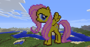 Fluttershy Minecraft by ijustloveit619