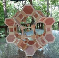 Crown Great Rhombicuboctahedron - 2014 (wood) by albertpcarpenter