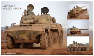 SANDF armoured fighting vehicle Rooikat by wiledog