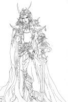 Amano style Elric by ArtistMeli