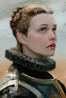 Woman knight by kastep