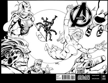Dark Avengers sketch cover... by terrypallot
