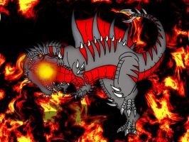 Saurian of the Flames by Almaster09
