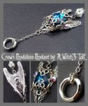 Crow's Pendulum Pendant by A Witch's Tale by LaceWingedSaby