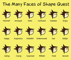 The Many Faces of Shape Quest by ShapeQuest