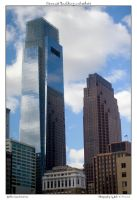 Comcast Building and others by yellowcaseartist