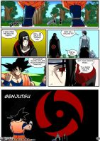 Goku vs Mangekyou Sharingan by ssjgogeto
