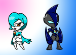 Chibi Jinx and armor by Sting-raptor