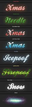 Xmas Premium Photoshop Text Styles by deadpuf