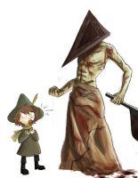 Snufkin meets pyramid head by Detkef