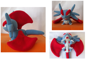 Pokemon - Salamence Plush by YoshiFan37