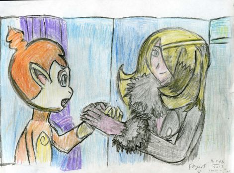 Cynthia and Chimchar by Fran48