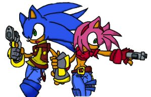 sonic and amy together by sonicalex