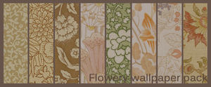 Flowery wallpaper texture pack by Dozaloz