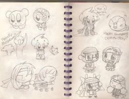 Doodles of DLOG Day by plushietoon